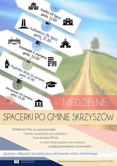 spacerki po gminie skrzyszów