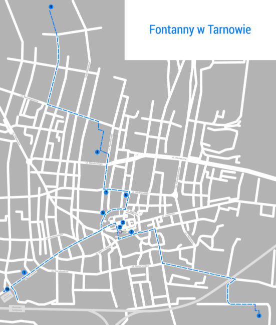 fontanny w Tarnowie