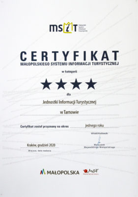 Certyfikat **** MSiT 2020 dla TCI